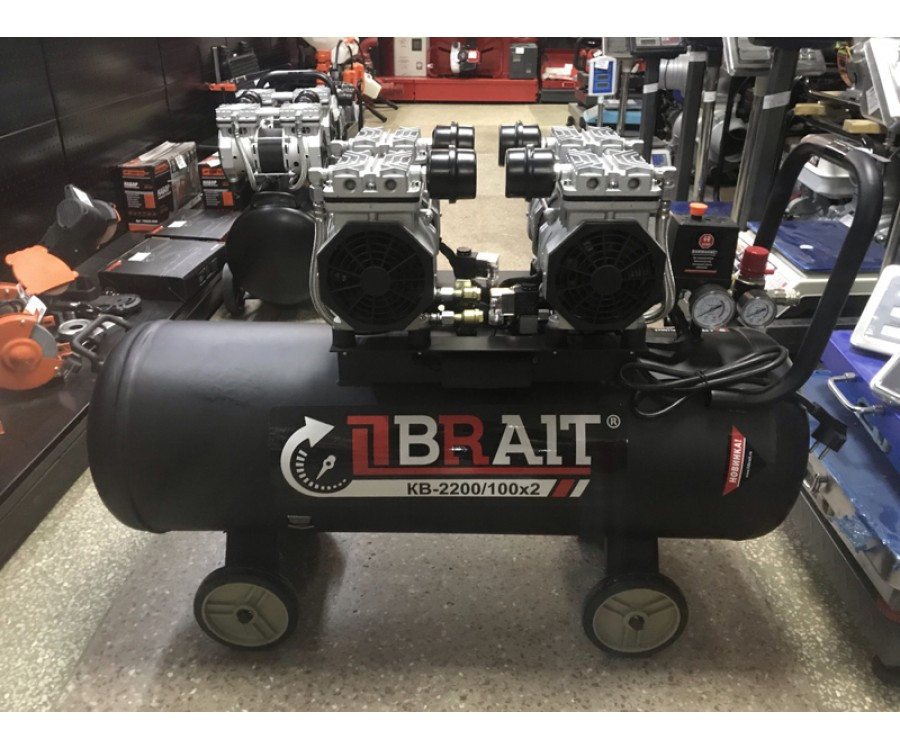 Компрессор воздушный BRAIT KB-2200/100х2