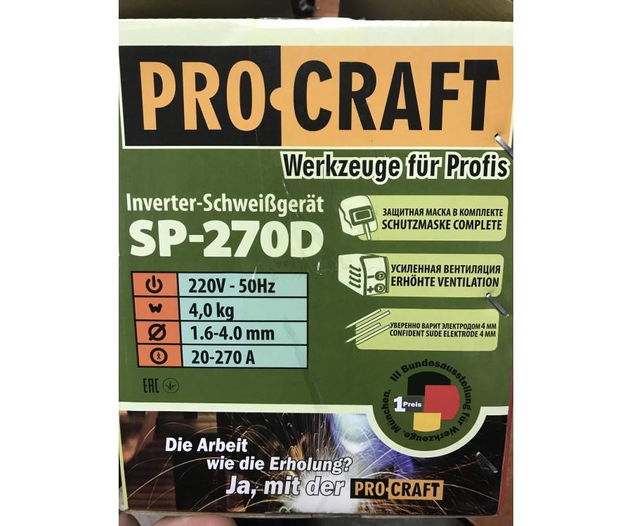 Инверторный сварочный аппарат ProCraft SP-270D