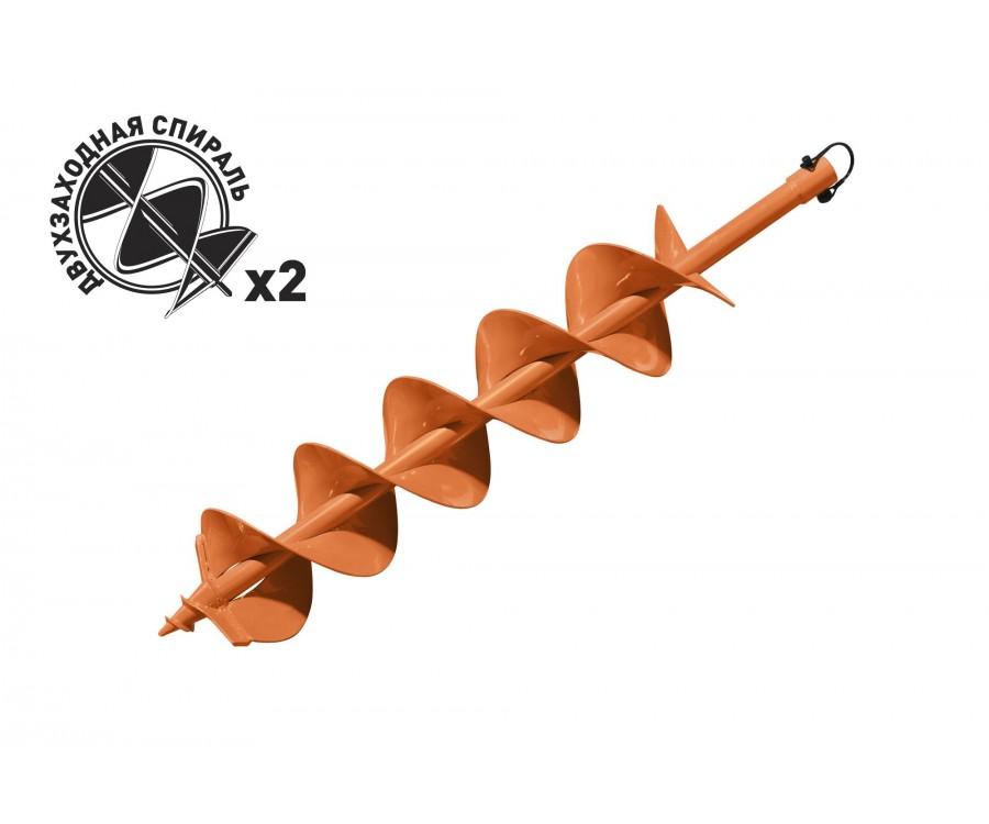 Шнек для бурения грунта двухзаходный Carver GDB-150/2