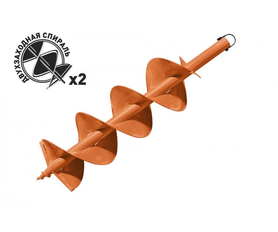 Шнек для бурения грунта двухзаходный Carver GDB-200/2
