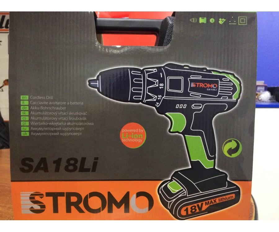 Аккумуляторный шуруповёрт Stromo SA18Li