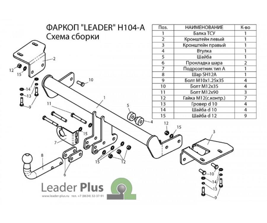 ТСУ для HONDA CR-V (RM)