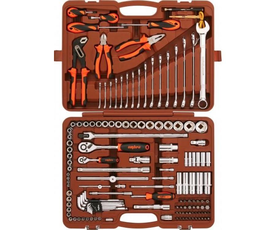 """Универсальный набор инструментов 1/2"""" и 1/4"""" DR, 143 предмета Ombra"""
