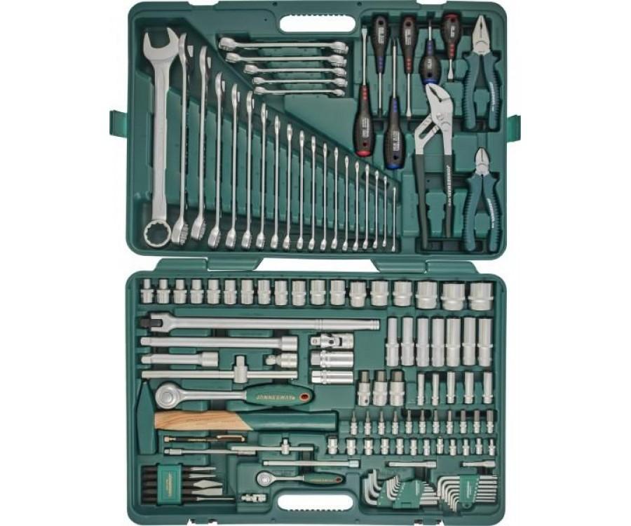 """Универсальный набор инструментов 1/2"""" и 1/4"""" DR, 128 предметов Jonnesway"""