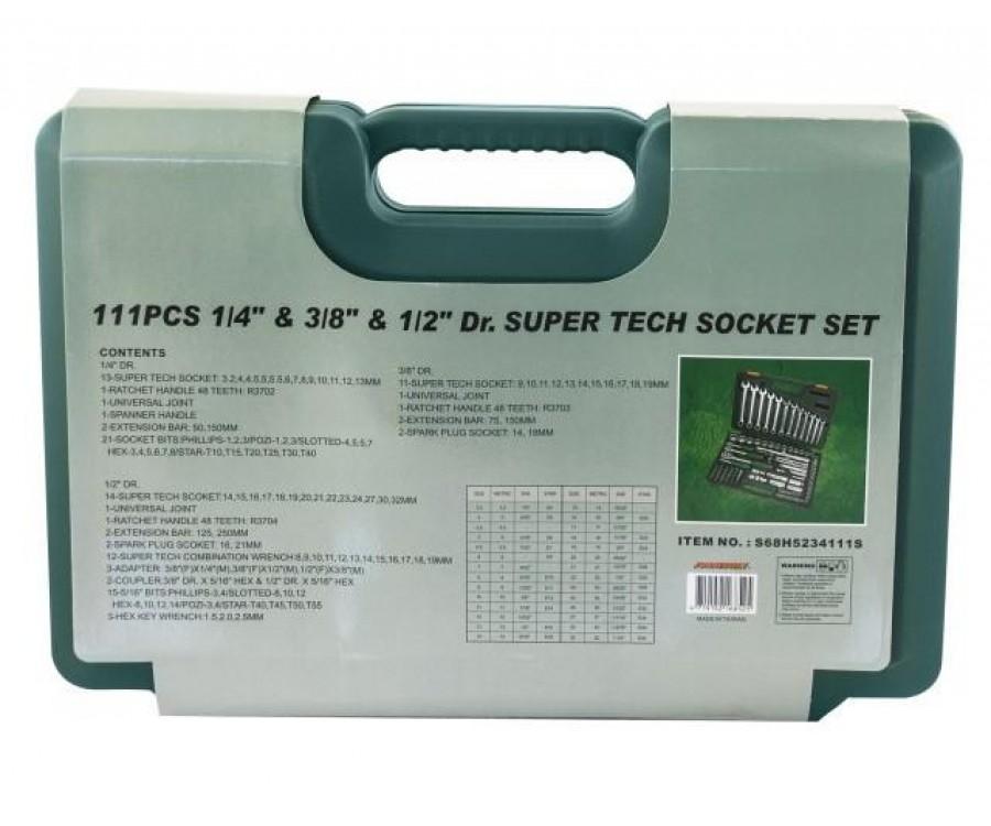 Универсальный набор инструмента Super Tech 111 предметов Jonnesway