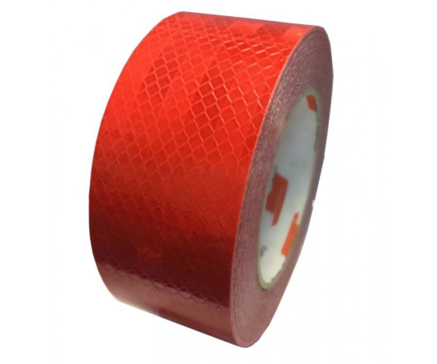 Красно-серебристая светоотражающая лента