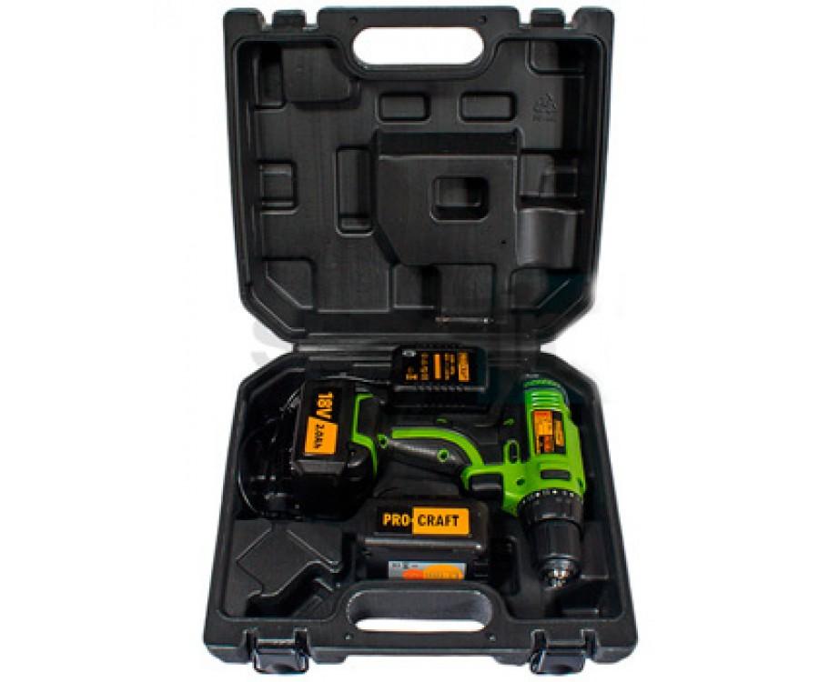 Шуруповерт аккумуляторный ProCraft PA182Li