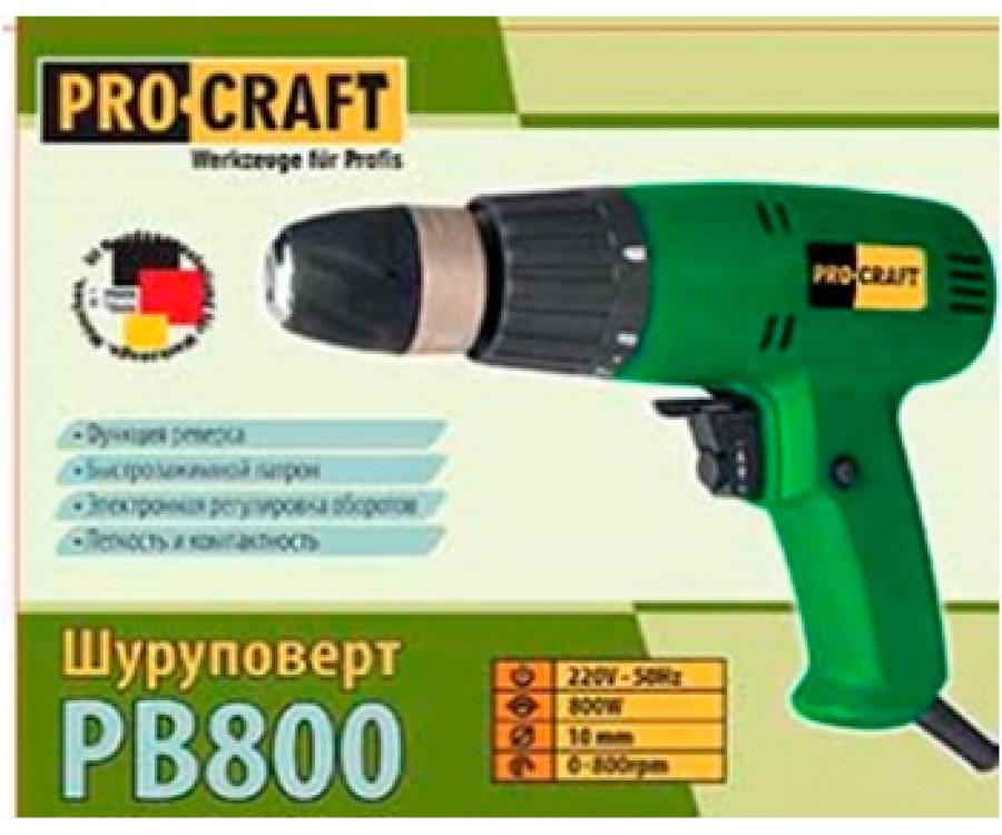 Шуруповерт сетевой Procraft PB 800