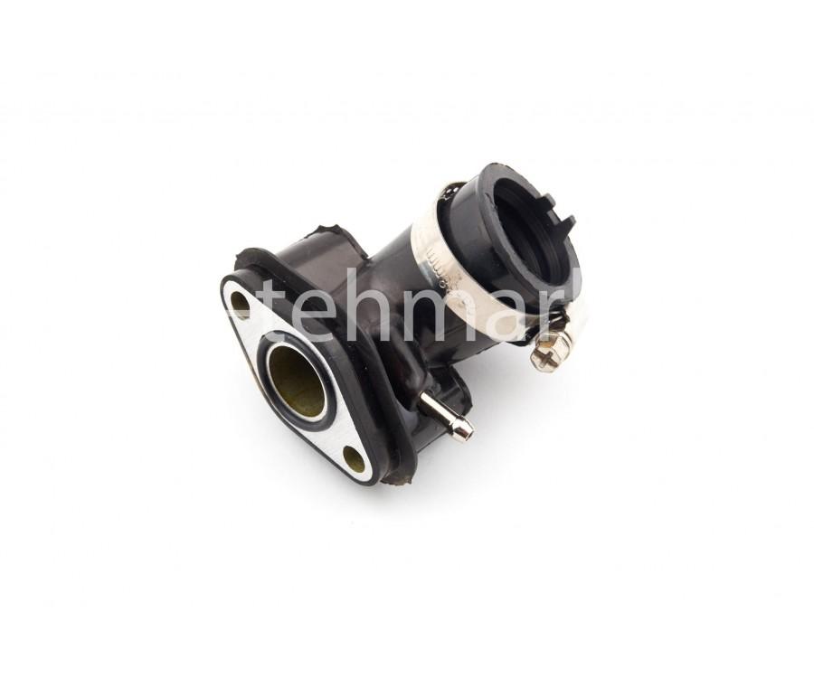 Патрубок карбюратора (коллектор) 4T GY6 50 (силиконовый, черный)
